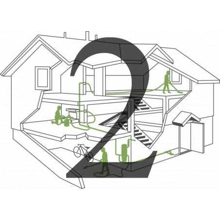 Montaż instalacji centralnego odkurzacza - 2 gniazda