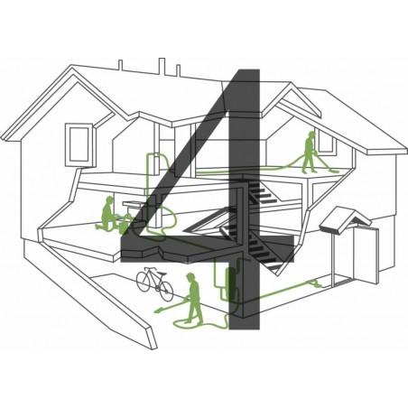 Montaż instalacji centralnego odkurzacza - 4 gniazda
