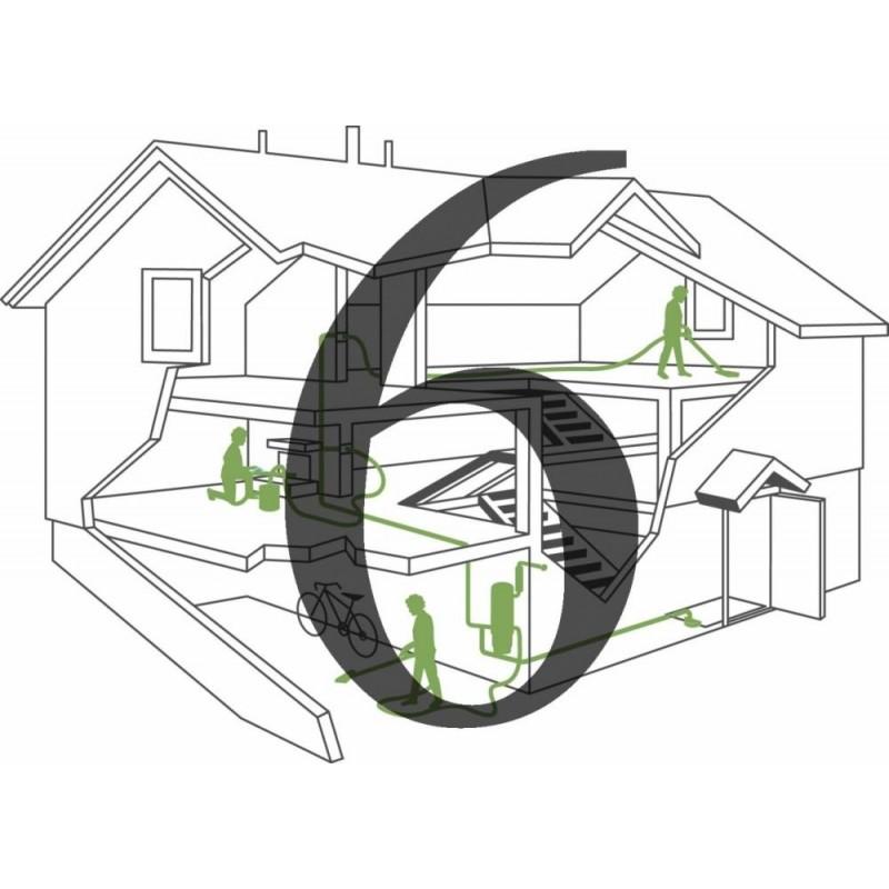 Montaż instalacji centralnego odkurzacza - 6 gniazd