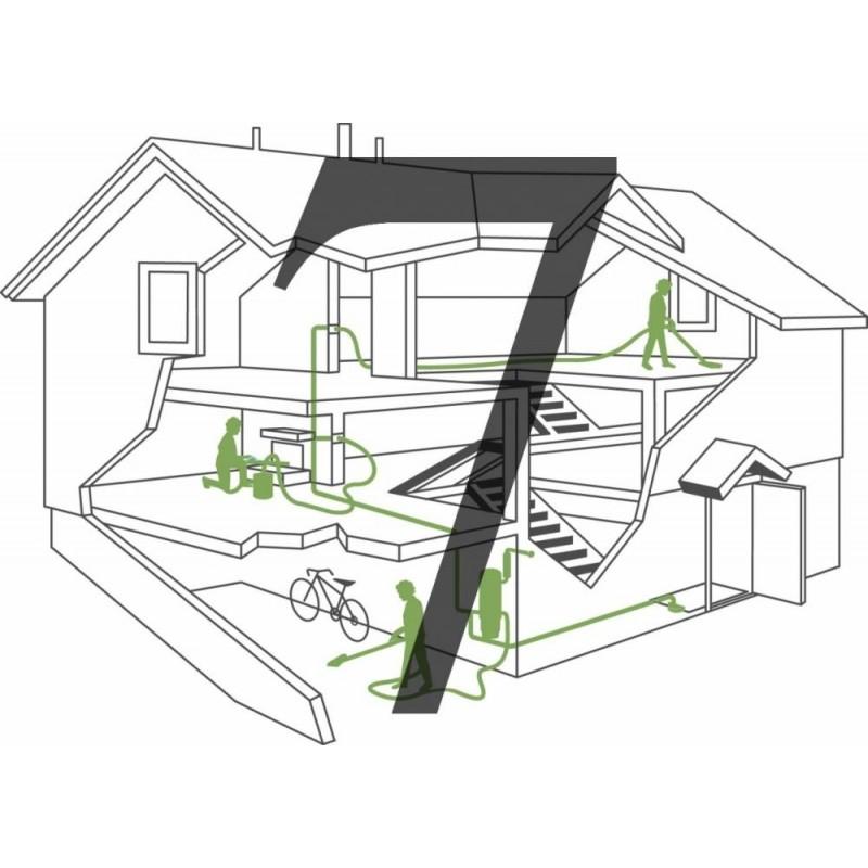 Montaż instalacji centralnego odkurzacza - 7 gniazd