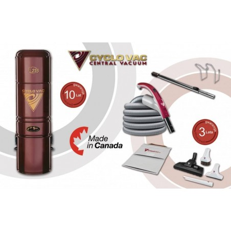 Odkurzacz Centralny Cyclo Vac H215 + zestaw Modern 7,5m