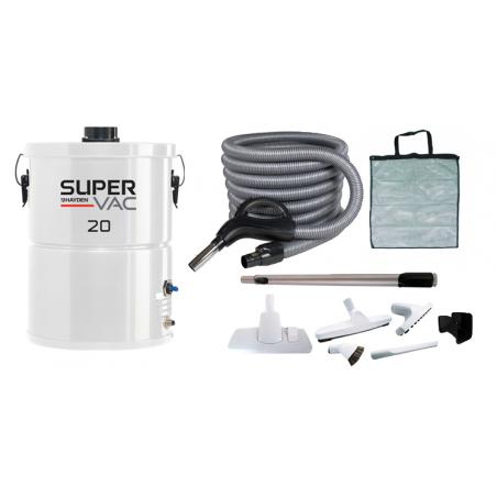 Odkurzacz centralny Super Vac Hayden 20 + Zestaw Supra z wężem 7,5m