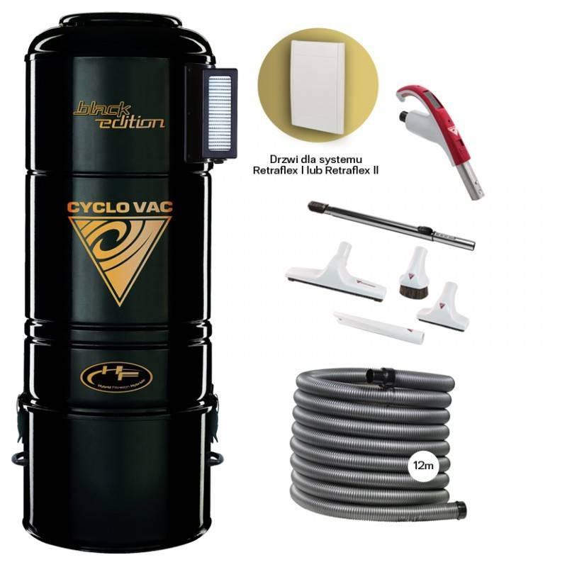 Odkurzacz Centralny H715 Black Edition + zestaw Retraflex 12m