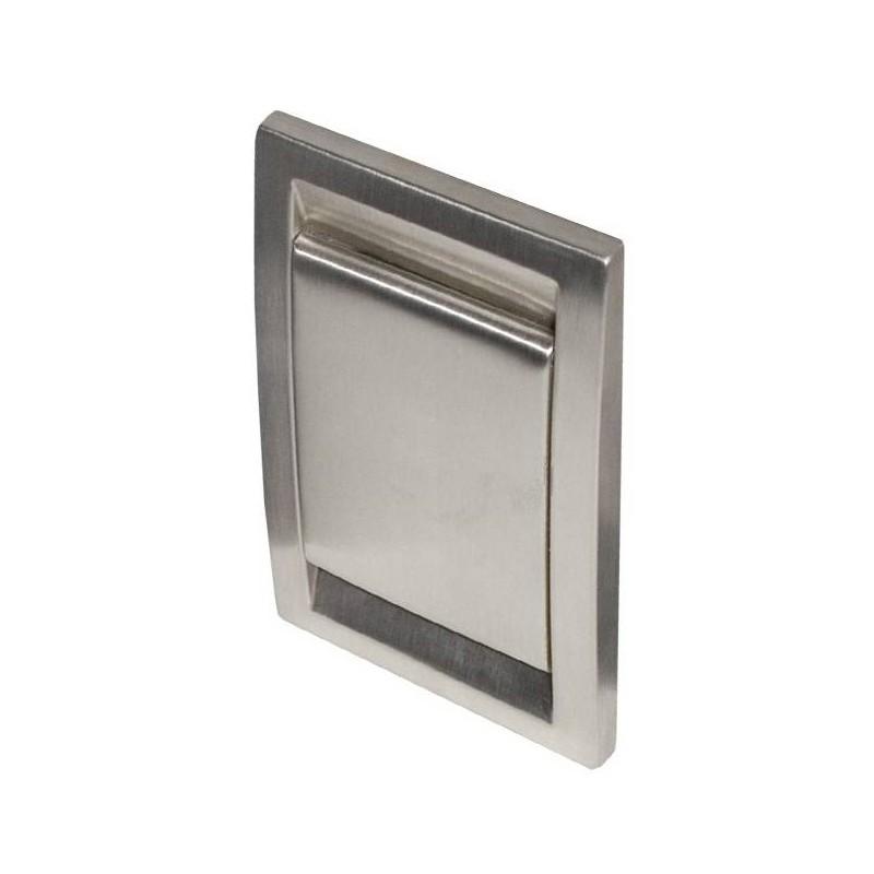 Gniazdo metalowe FlipVac inox mat