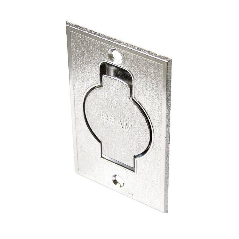 Gniazdo metalowe STANDARD srebrne, podłogowe