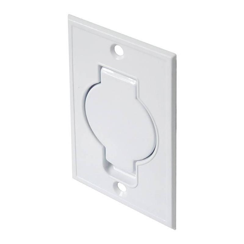 Gniazdo metalowe STANDARD białe, podłogowe